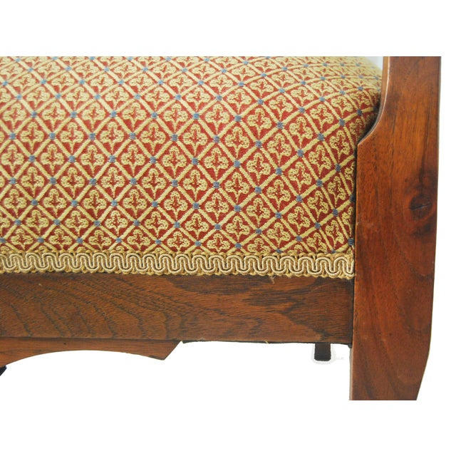 American Walnut & Upholstered Armchair - Image 7 of 10