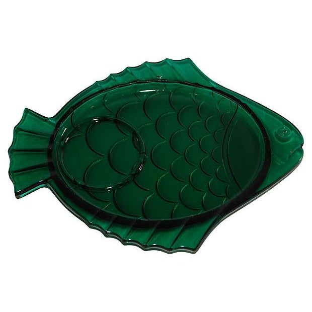Image of 1930s Glass Fish Plates