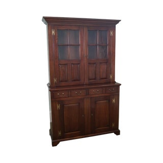 Kittinger Mahogany Chippendale 2 Piece Cupboard
