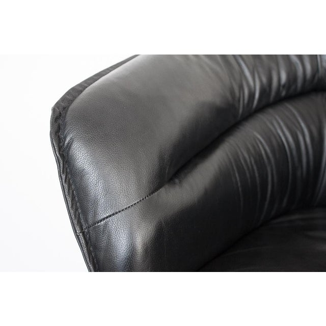 Modern Black Faux Leather Armchair - Image 9 of 10