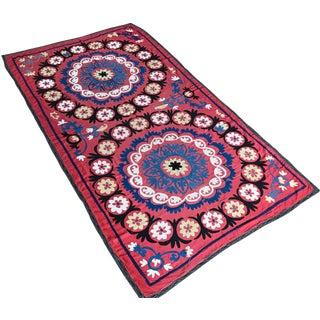 Vintage Handmade Suzani Blanket