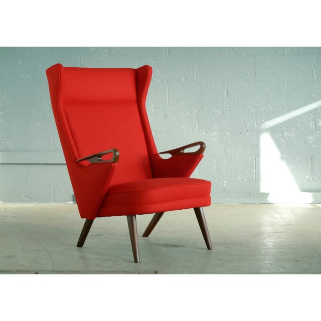 Svend Skipper Attributed 1950s Papa Bear Style Lounge Chair - Image 8 of 8