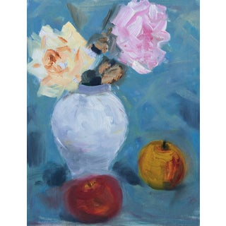 Murat Kaboulov Roses and Apples Painting