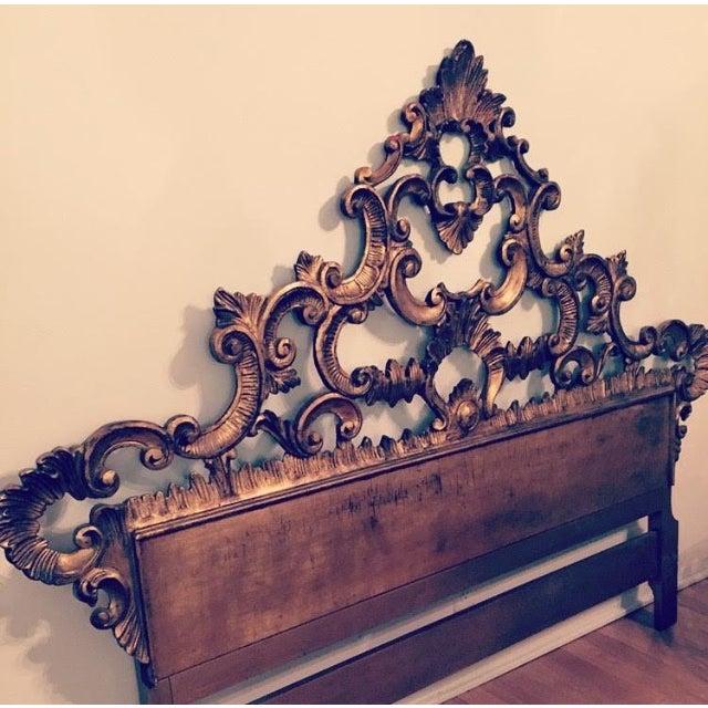 Florentine Gilded Rococo Headboard - Image 3 of 7