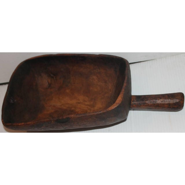 19th Century Original Old Surface Hand-Carved Scoop - Image 2 of 10