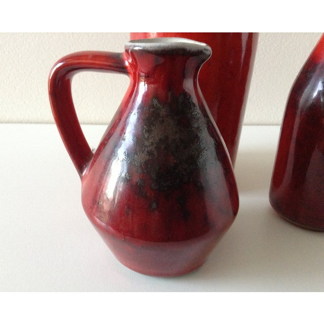 Terracotta Red Glazed Containers - Set of 4 - Image 8 of 10