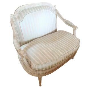 French  Silk Upholstered Loveseat