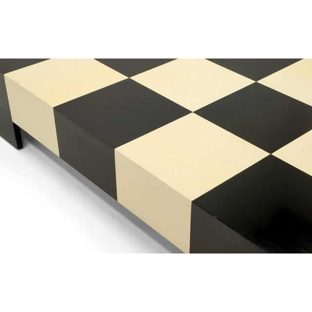 Large Square Black and White Checkerboard Coffee Table by Milo Baughman - Image 7 of 9