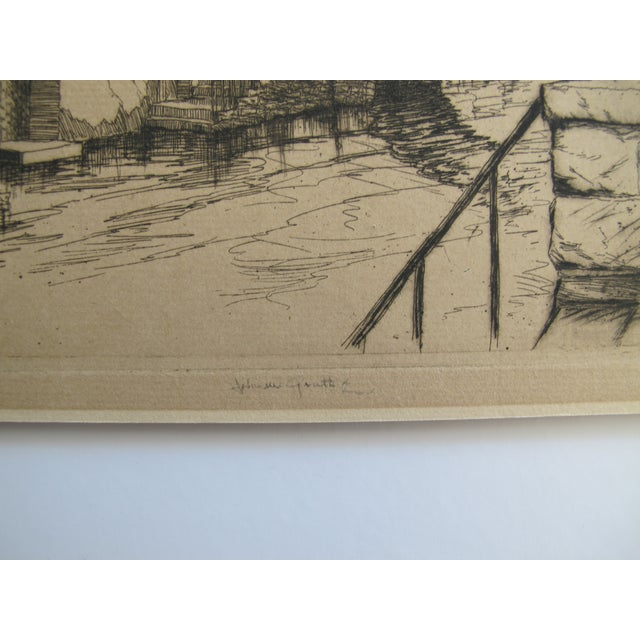 Gables and Chimneys, John McGrath Etching - Image 3 of 5