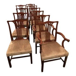 Arthur Brett Mahogany Sunbury Park Dining Chairs - Set of 10