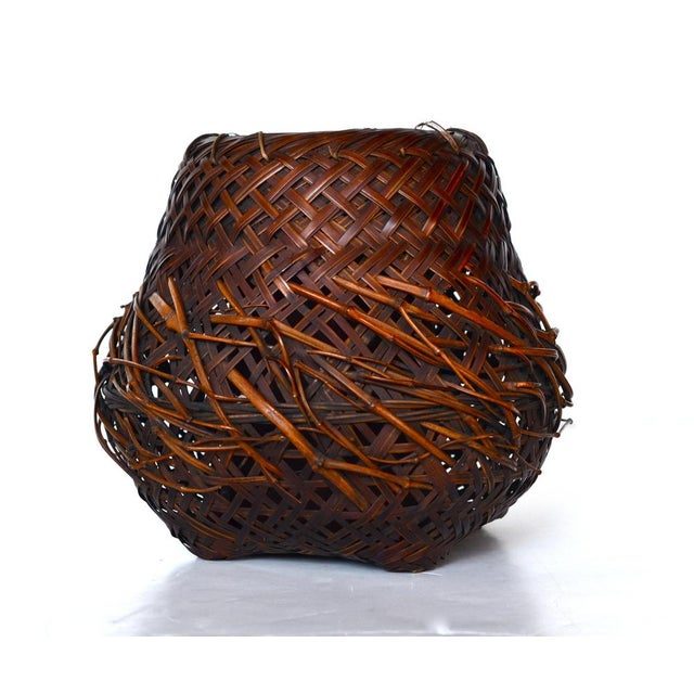 Antique Japanese Woven Ikebana Basket - Image 5 of 5