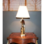 Image of Modern Aged Silver Sculptured Accent Lamp