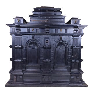 Spanish Baroque Islamic Motif Ebony Architectural Carved Box