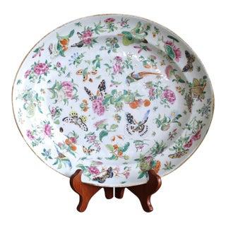 Chinese Export Porcelain Rose Canton Platter