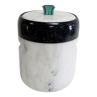 Georges Briard Black & White Marble Ice Bucket