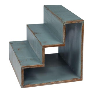 Sarreid Ltd Pale Blue Step Side Table