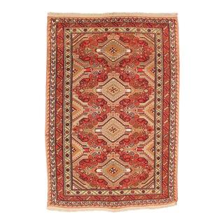 Afghan Red & Orange Sumak Kelim Rug - 6.1'W x 8.9'L