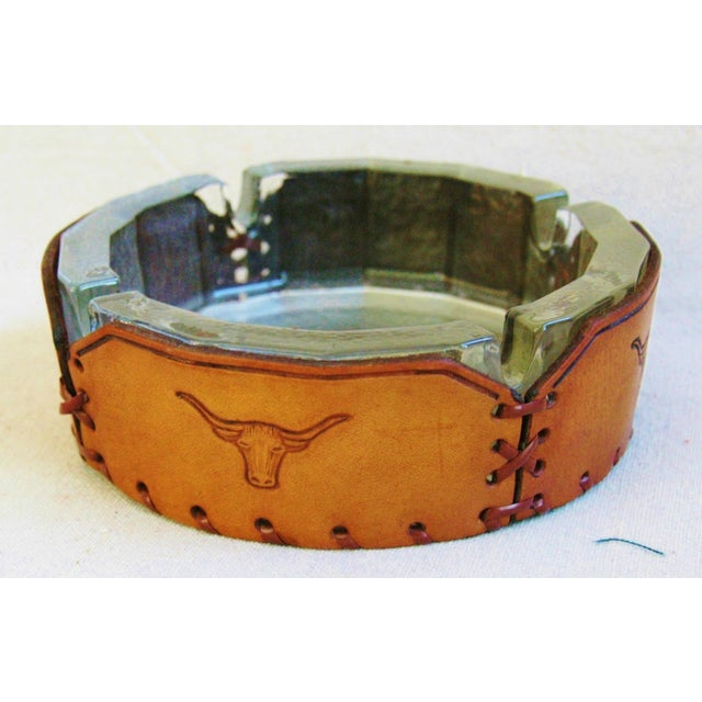 Embossed Leather Texas Longhorn Ashtray - Image 7 of 7