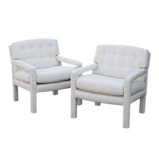 Vintage Milo Baughman Parson Lounge Chairs - A Pair