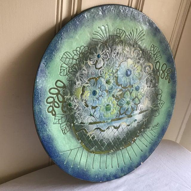 Vintage Enamel Copper Tray - Image 3 of 10