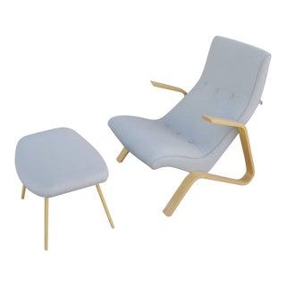 Modernica Grasshopper Chair and Ottoman by Eero Saarinen