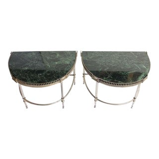 Pair of Jansen Style Demilune Tables