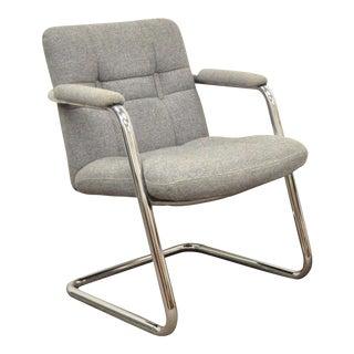 Vintage Chromcraft Mid-Century Modern Tubular Chrome Cantilever Lounge Chair