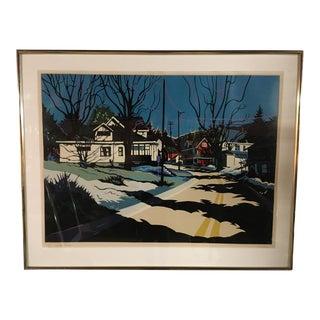 """""""Winter Shadows"""" Serigraph by Jon Carsman"""