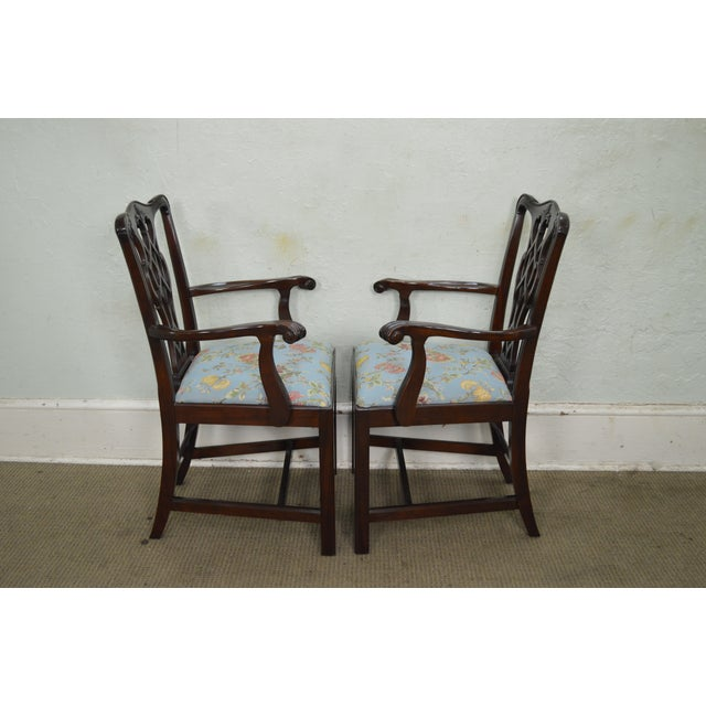Councill Craftsman Solid Mahogany Chippendale Style Dining Chairs - Set of 8 - Image 3 of 10