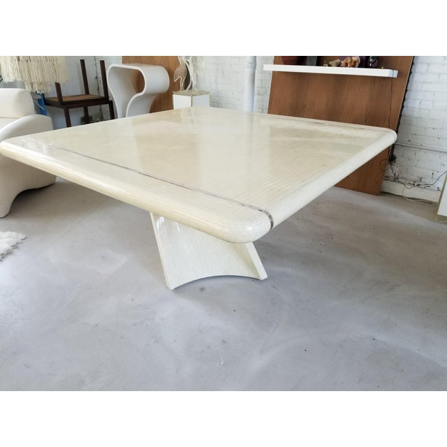 Signed 1980's Enrique Garcel Tessellated Dining Table - Image 2 of 5