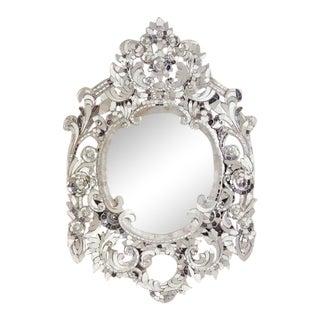 Silver Handcut Glass Mirror