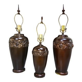 Restoration Hardware Mission-Style Table Lamps - Set of 3