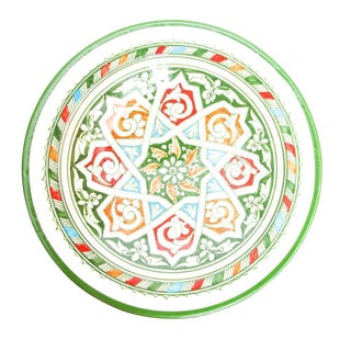 Green Atlas Arabesque Plate