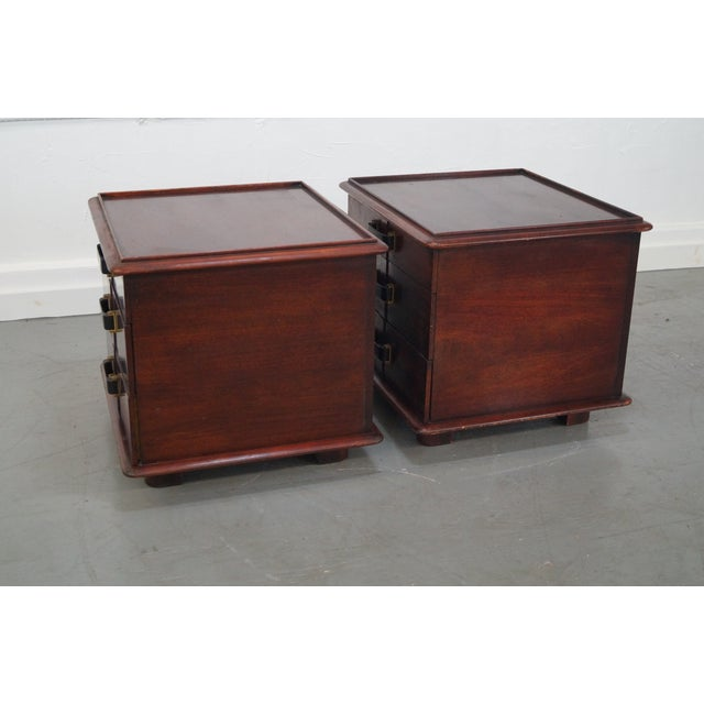 Paul Frankl Johnson Furniture Mahogany Station Wagon Nightstands- A Pair - Image 6 of 10