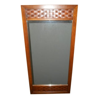 Mid Century Danish Lane Walnut Mirror