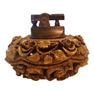 Vintage Brass Flowers Lighter