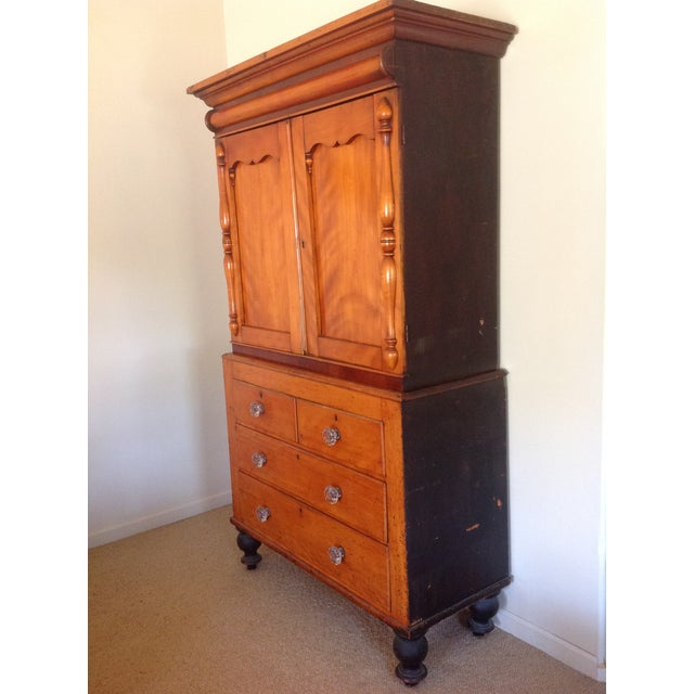 Antique American Pine Armoire - Image 7 of 11