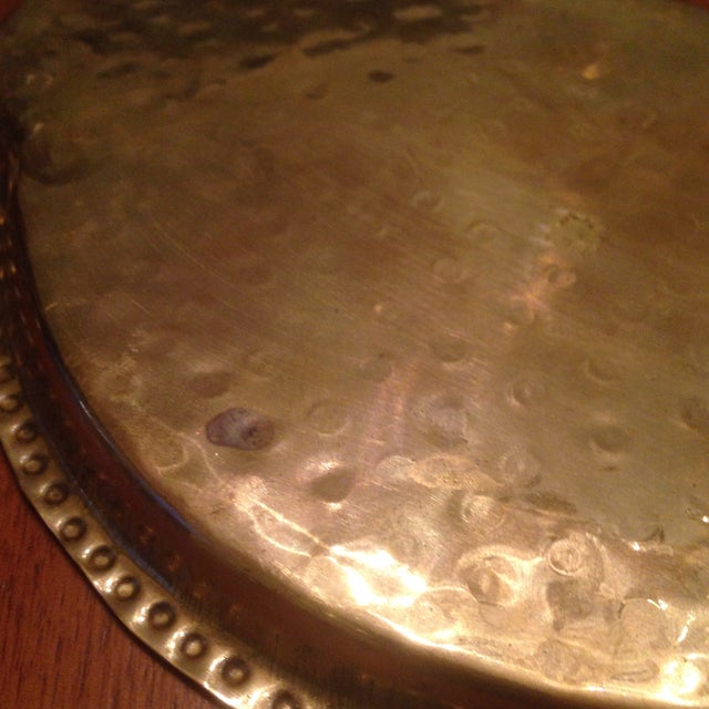Vintage Brass Cordial Glasses and Tray - Set of 7 - Image 8 of 11