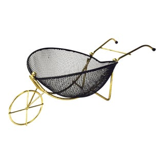 Vintage Wheel Barrow Fruit Basket
