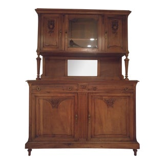 Antique Oak Buffet With Hutch