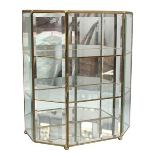 Vintage 3 Tier Mirrored Glass Display Case