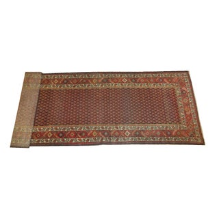 "Antique Persian Malayer 13'1"" x 3'8"" Runner Rug"