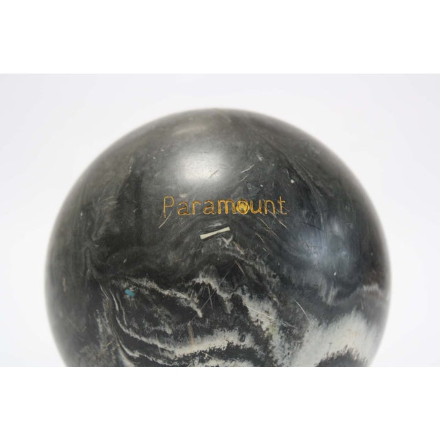 Image of Black Marbleized Bocce Ball
