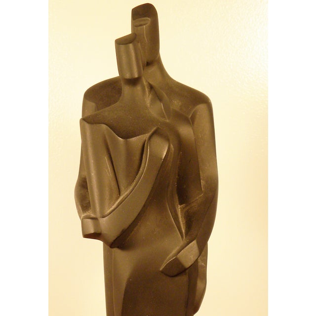 Modern Sculpture Embracing Man and Woman - Image 6 of 8