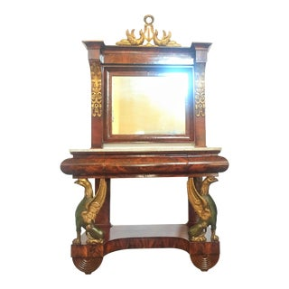 Spanish Empire Pier Console With Mirror