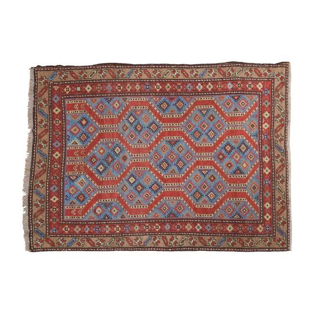 "Vintage Northwest Persian Square Rug - 3'9"" X 5'2"" - Image 1 of 7"