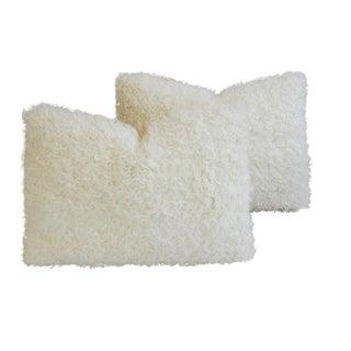 Kalgan White Lambswool Pillows - A Pair
