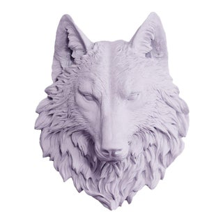 Wall Charmers Faux Taxidermy Lavender Wolf Mount