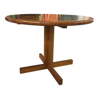 Butcher Block Round Dining Room Table