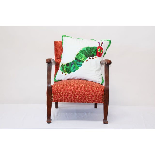 Kid's Red Armchair & Hungy Caterpillar Pillow - Image 2 of 6